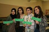 Alaa (M-A), Geo (WHS), Maria (WHS), Jessica (CHS)