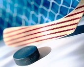 Palo de hockey a rayas