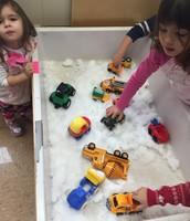 Students and families having a blast at Peek Into Preschool