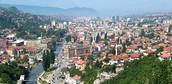 SARAJEVO, CAPITAL CITY OF BOSNIA.