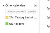 View a Friend's Calendar