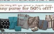50% Off All Purses!