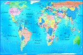 Geographic regions across the globe