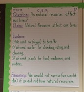 CER (Claims, Evidence, Reasoning)