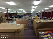 Hundreds of Boxes of Books