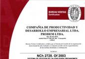 Recertificación del Sistema de gestión de Calidad de PRODEM