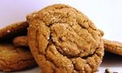 Sweet sugar-coated ginger snap cookies