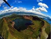 Taal Volcano Birds Eye Veiw