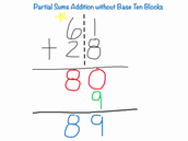 Unit 11 Review of partial sums, trade first subtraction