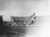 Jesse running a 100m dash