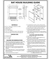 Bat House Building Instructions