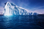 2% of water in glaciers