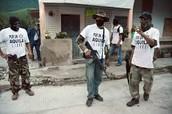 Armed masked men