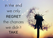"""In the end, we only regret the chances we didn't take"" Troy Theodore Wruck"