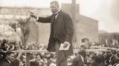 Booker giving his speech