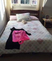 SOLD Wooden Double Bed Frame - £70