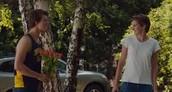 Hazel and Augustus flirting