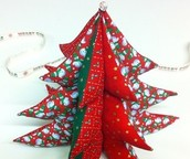 Fabric Holiday trees in 3'D