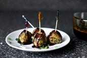 Soy ginger glazed meatballs
