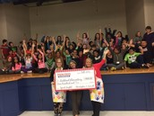 We raised $900 for 4th Grade!
