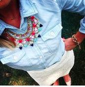 Fanella Necklace + Jackie Link Bracelet