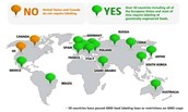 Places where foods are genetically modified