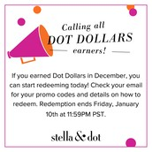 Dot Dollar redemption period is 1/3 - 1/10