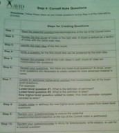 Questions that should be asked,while in the process of making Cornell notes