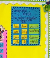 Compound words on sentence strips-good to manipulate