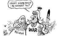 War and religion disputes