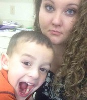 Caden and I on a Monday