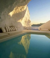 Natural Pool,Santorini, Greece
