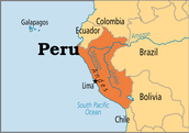 Peru on the map