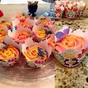 Gluten-free Butterfly Rosette Cupcakes