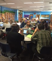 Teachers Working on Collaborative Group Projects