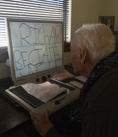 A WWII Veteran reading his letter
