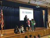 Students from Ms. Davishines's 1st grade class lead us in how to manage worry.