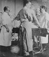 Scientists experimenting on prisoners