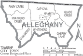 Map of Alleghany County