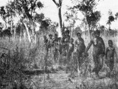aborigal people trying to hide from british people