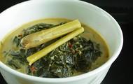 Cassava Leaf Stew with White Rice