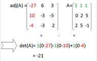 Find det(A), the determinate of the matrix A.