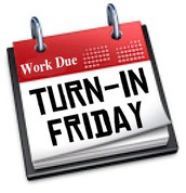 Work Due for Month 2:  Friday, October 21 by 3:00 pm