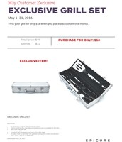May Customer Special- Grill Set