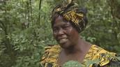Wangari Maathai in a forest in Kenya