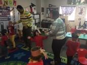 Naveen, David and Margarita (in a cast!) dancing :)