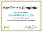 20 HOURS of IXL math practice!