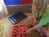 Amelia sorting fruits