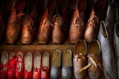 Shoes that shoemakers made mostly in the old days