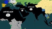 Areas that ISIS controls